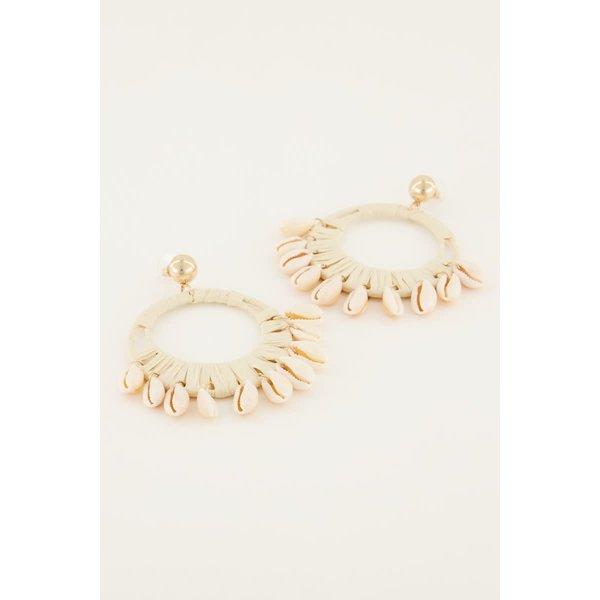 My Jewellery My Jewellery - Statement oorbellen met schelpen
