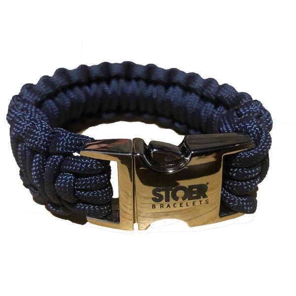 Stoer Armbanden STOER Paracord armband Navy cobra