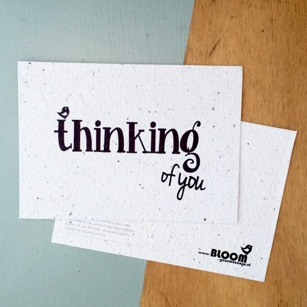 Bloom Your Message Zaaibare kaart - Thinking of you (bloemenmix)