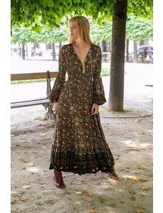 Last queen Last Queen Lange bohemian jurk groen