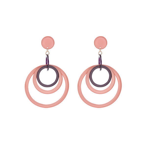 Ronde oorbellen roze