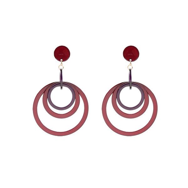 Ronde oorbellen rood