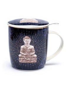 Theemok set Boeddha blauw - 400ml