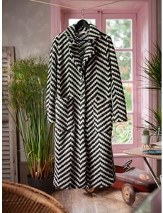 Banditas Banditas - Lange jas Black stripes