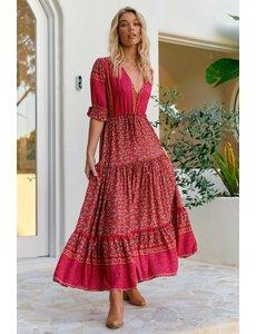 Jaase Jaase - Maxi jurk Hibiscus Lorena