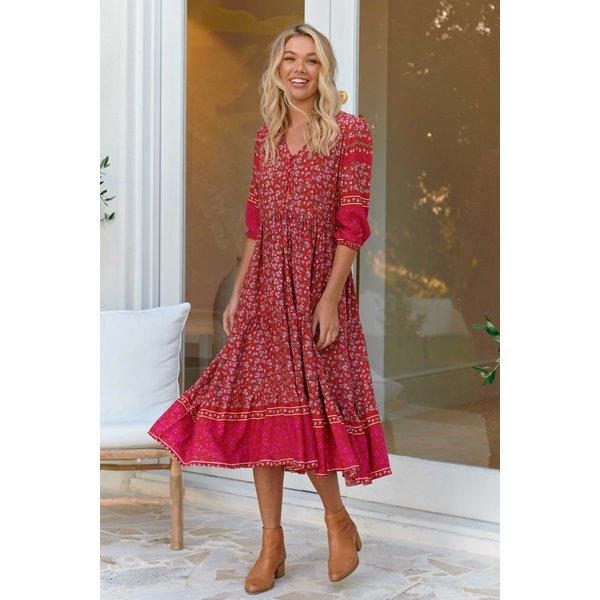 Jaase Jaase - Midi jurk Hibiscus Eve