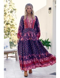 Jaase Jaase - Maxi jurk Rosewood Tessa (long sleeve)