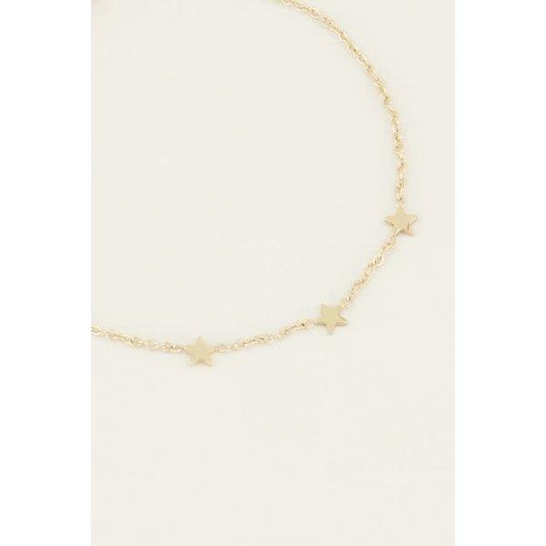 My Jewellery My Jewellery - Armband drie sterretjes goud