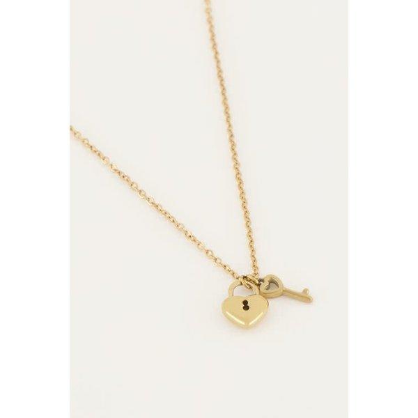 My Jewellery My Jewellery - Ketting hartjes slot & sleutel
