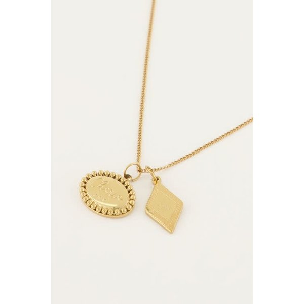 My Jewellery My Jewellery - Ketting met bedeltjes ovaal & ruit