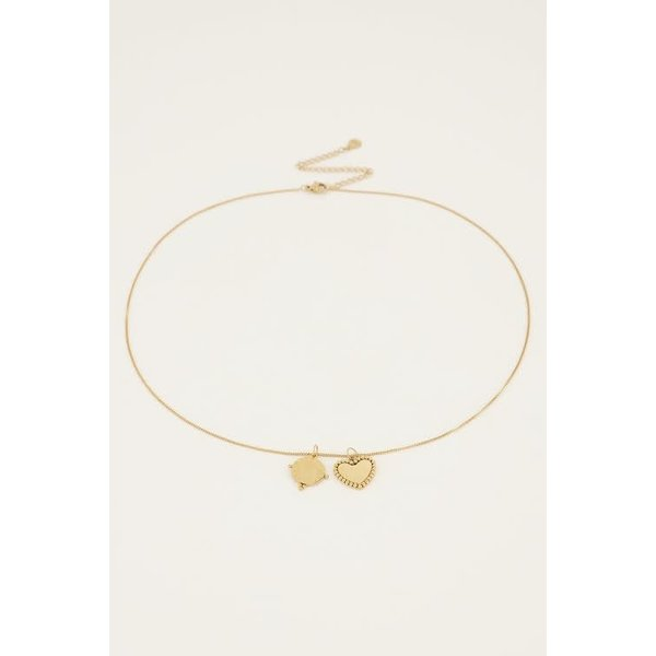My Jewellery My Jewellery - Ketting met bedeltjes rondje & hartje
