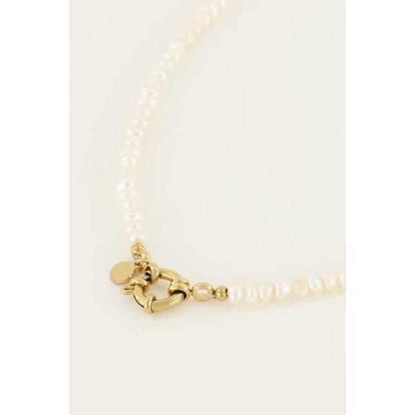 My Jewellery My Jewellery - Parelketting met slotje (40cm)