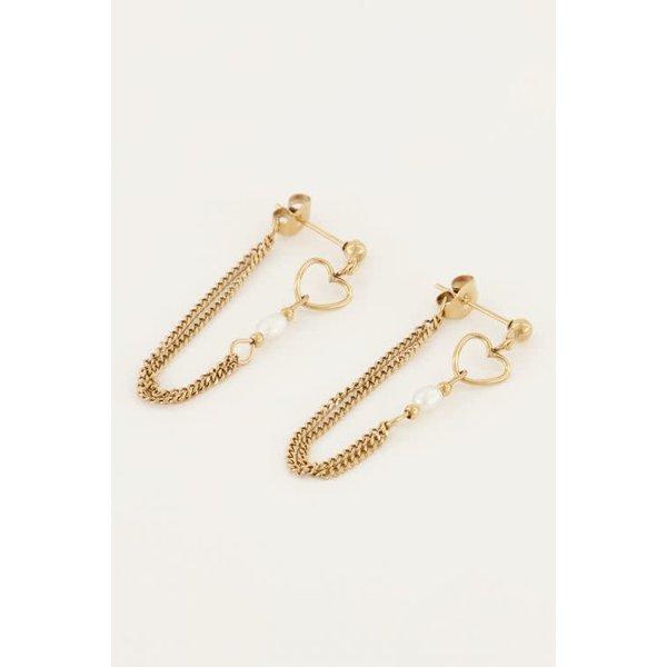 My Jewellery My Jewellery - Oorbellen ketting parel & hartje