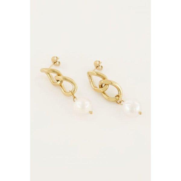 My Jewellery My Jewellery - Oorhangers schakel & parel