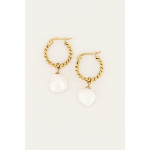 My Jewellery My Jewellery - Oorringen gedraaid met parel