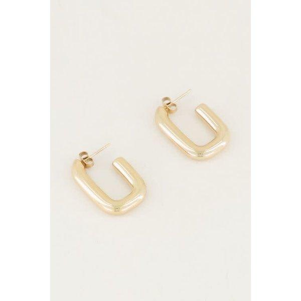 My Jewellery My Jewellery - Rechthoekige oorhangers klein