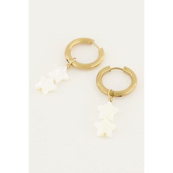 My Jewellery My Jewellery - Oorringen sterretjes parels