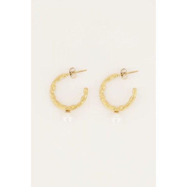 My Jewellery My Jewellery - Oorringen zoetwaterparel