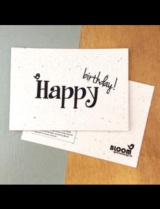 Bloom Your Message Zaaibare kaart - Happy Birthday (bloemenmix)