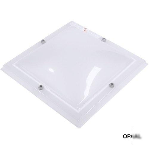Lichtkoepel set vierkant 105 x 105 cm