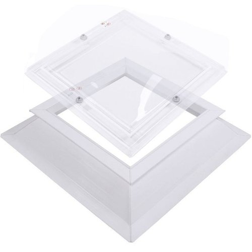 Lichtkoepel set vierkant 120 x 120 cm