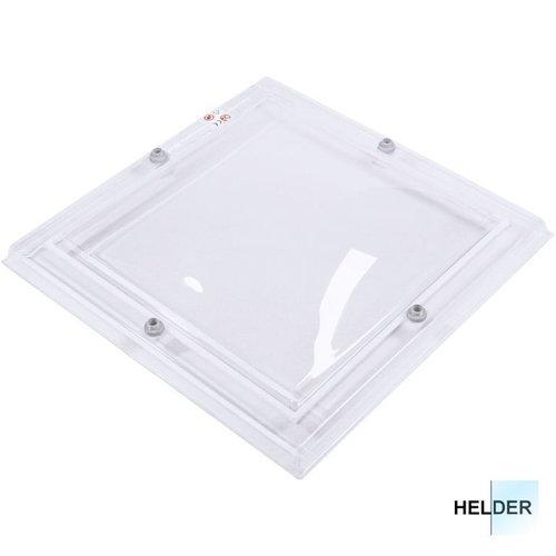 Lichtkoepel set vierkant 130 x 130 cm