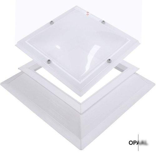 Lichtkoepel set vierkant 140 x 140 cm