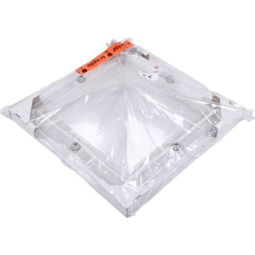 Lichtkoepel set vierkant piramide 90 x 90 cm