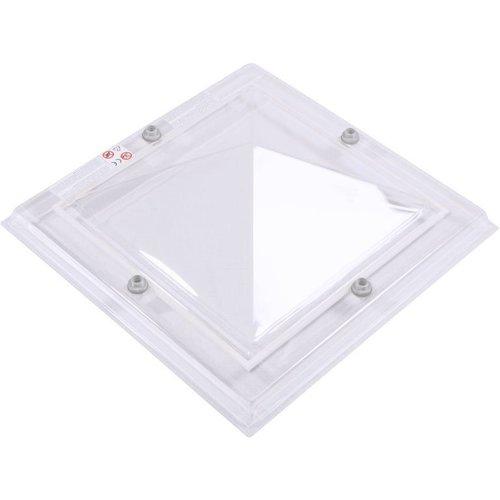 Lichtkoepel vierkant piramide 130 x 130 cm