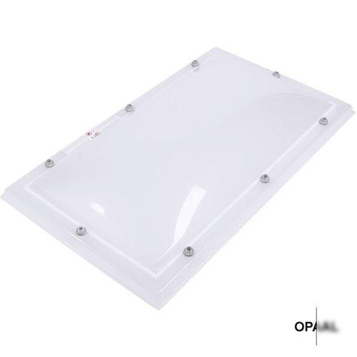Lichtkoepel set rechthoek 130 x 220 cm