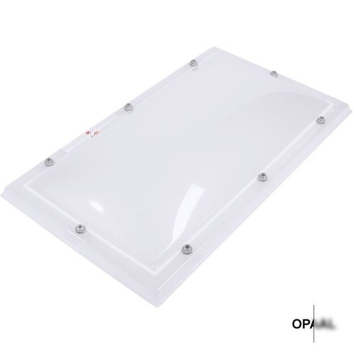 Lichtkoepel set rechthoek 75 x 125 cm