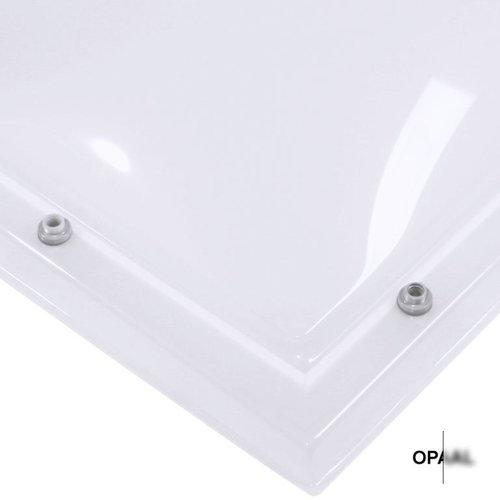 Lichtkoepel set rechthoek 120 x 150 cm