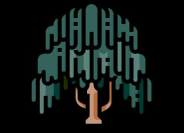 Hängende Bäume