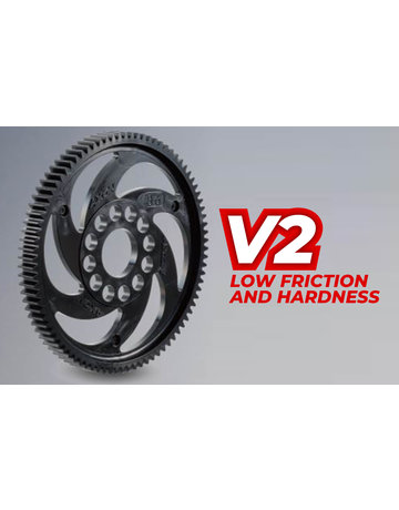 AXON GS-T4B-084,-AXON Spur Gear TCS V2 48P 84T (Low friction & Hardness)