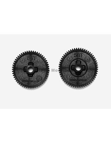 TAMIYA  Tam53665,-Tamiya spure gear set (55T/58T) TT01