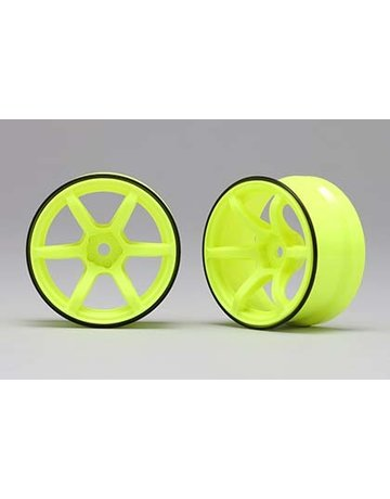 Racing Performers RP-6313Y6,-Racing Performer High Traction Drift Wheel (6mm Offset·Yellow·2pcs)