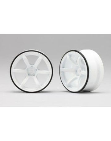 Racing Performers rp-6313w6,-Racing Performer High Traction Drift Wheel (6mm Offset·White·2pcs)