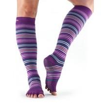 Half-Toe with Grip SCRUNCH Knee-High in: Phlox/Stripe