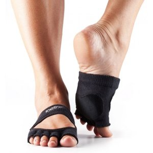ToeSox Half-Toe with Grip/Leather RELEVE in Black