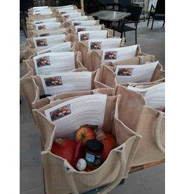 Pompoensoep-pakket in jute tas   Voor 4 personen (De Groene Schuur)