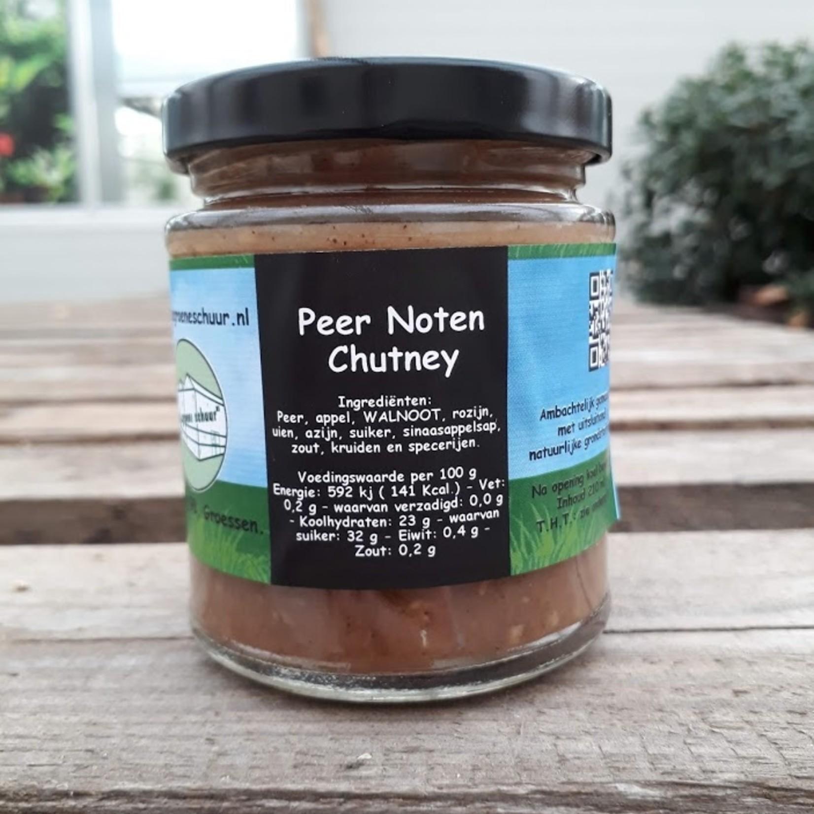 Peer-Noten chutney (De Groene Schuur)