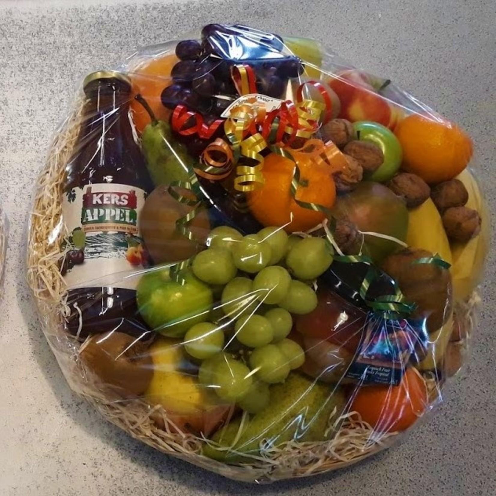 Grote cadeau-fruitmand inclusief kaartje | 35cm (De Groene Schuur)