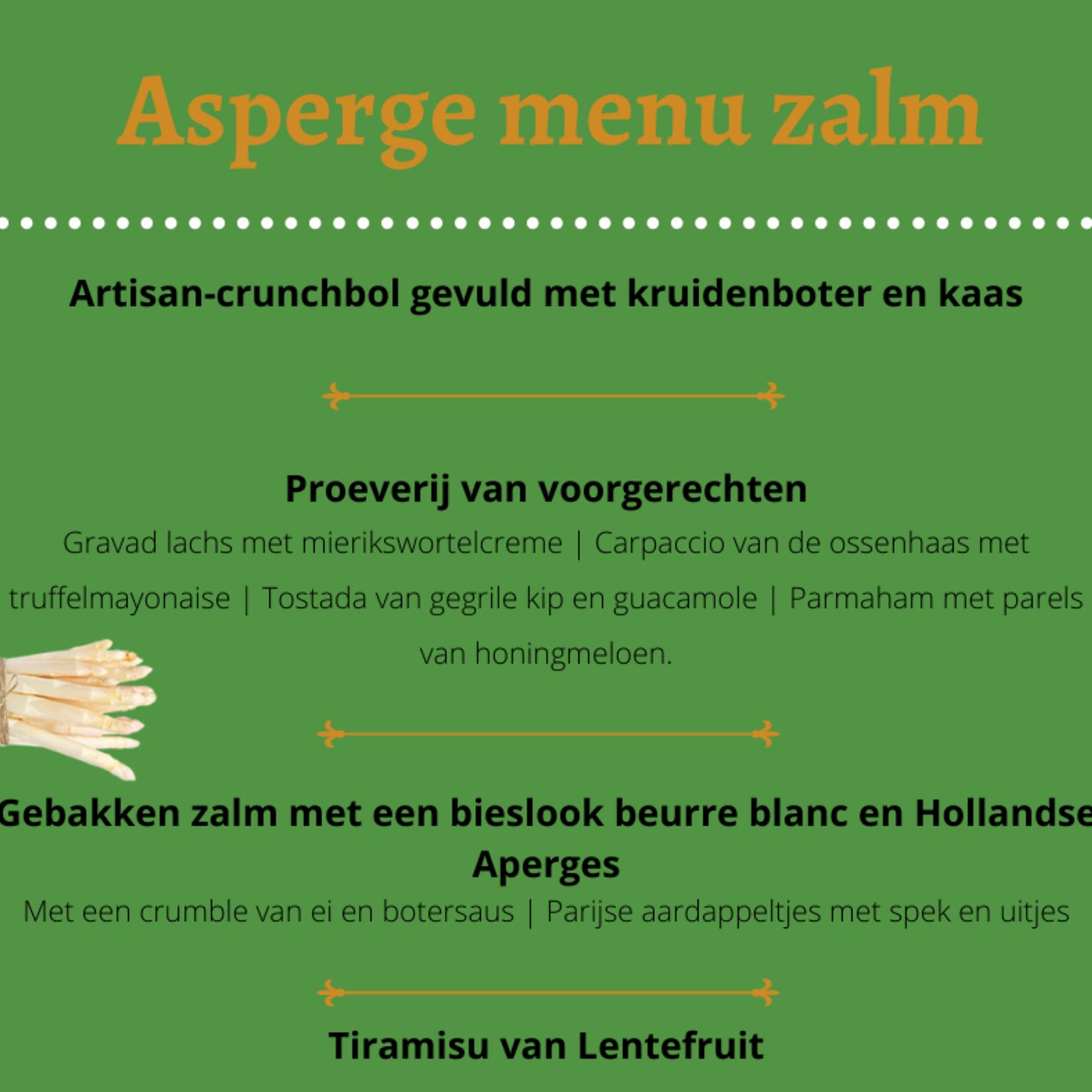 Asperge menu Vis | per persoon | Berentsen