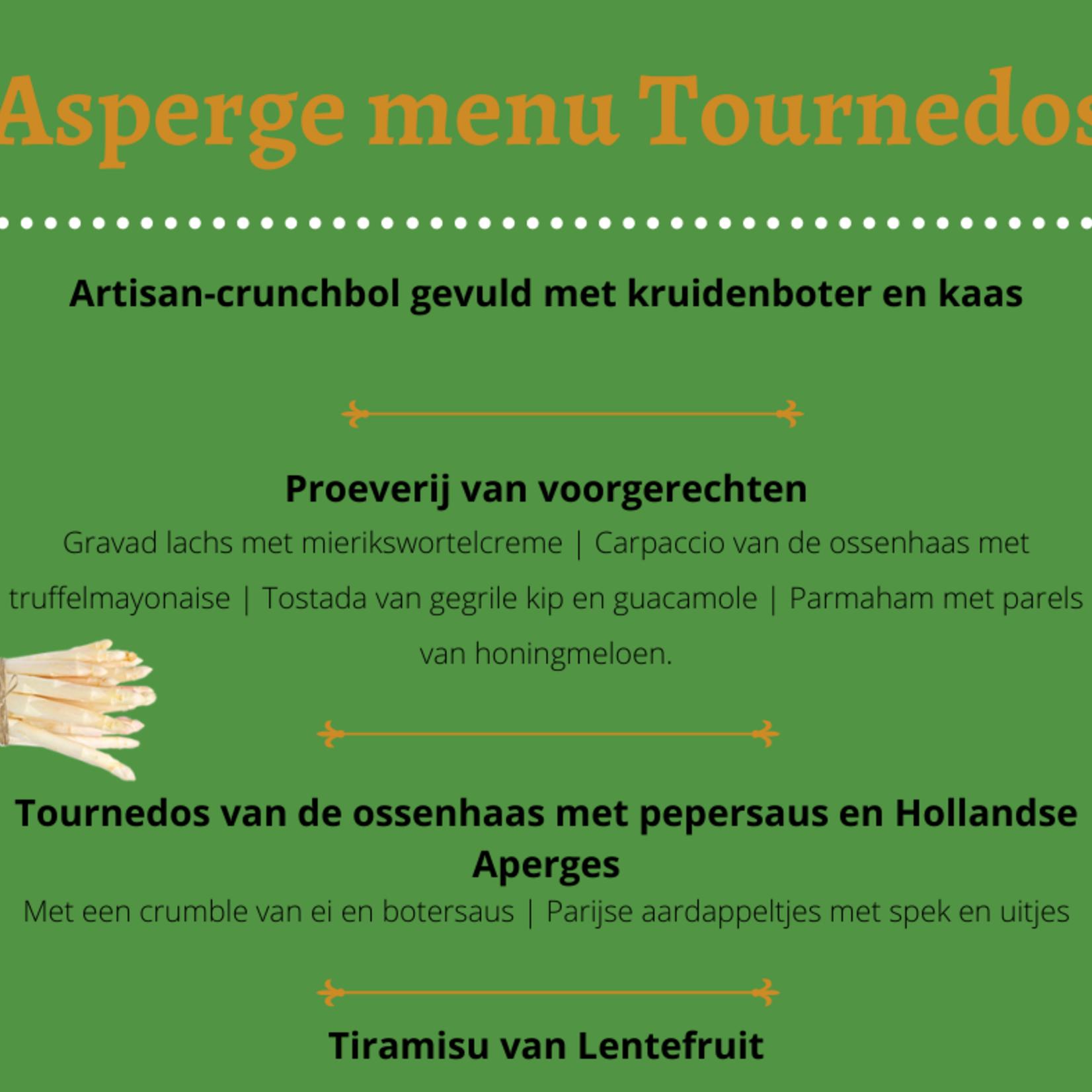 Asperge menu Tournedos | per persoon | Berentsen