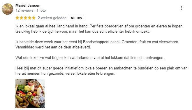 Wat vinden onze klanten van BoodschappenLokaal.nl?