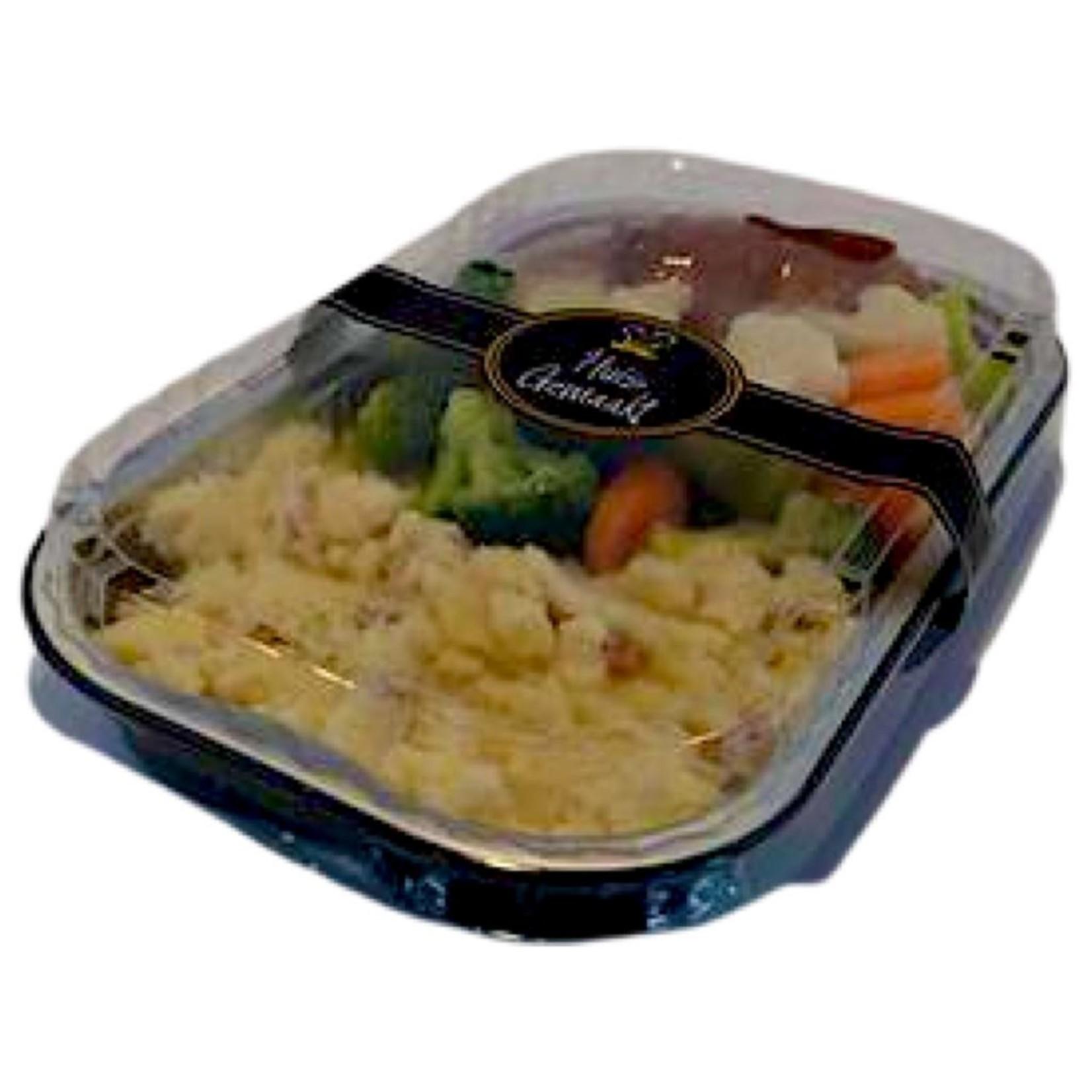 Slavink met gemixte groente en aardappelen | per maaltijd | (Slagerij Gerritschen)