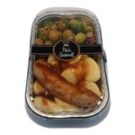 Verse worst met aardappelen en spruitjes | per maaltijd | (Slagerij Gerritschen)