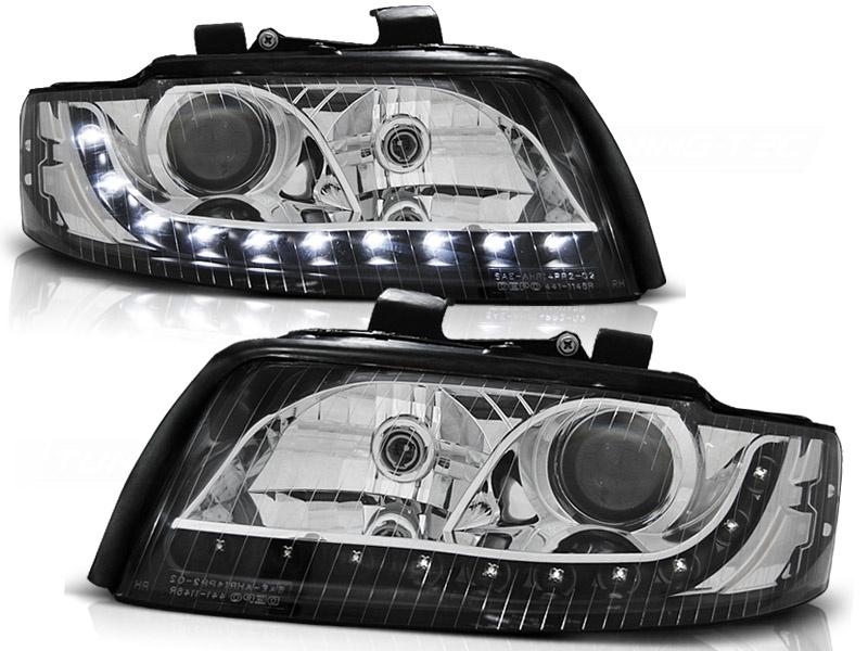 Tuning-Tec Koplampen met parkeerlicht voor Audi A4 10 00-10 04 ZWART
