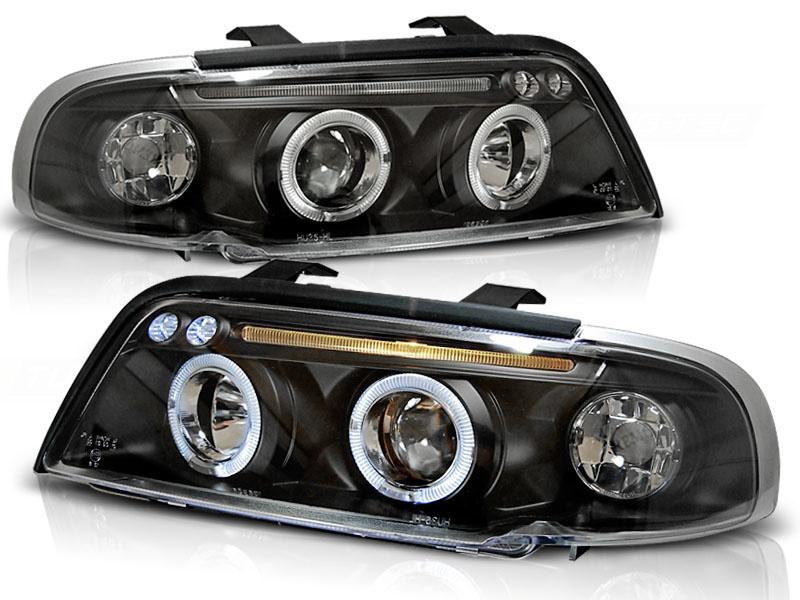 Tuning-Tec Koplampen dual halo rims voor Audi A4 11 94-12 98 ANGEL EYES ZWART