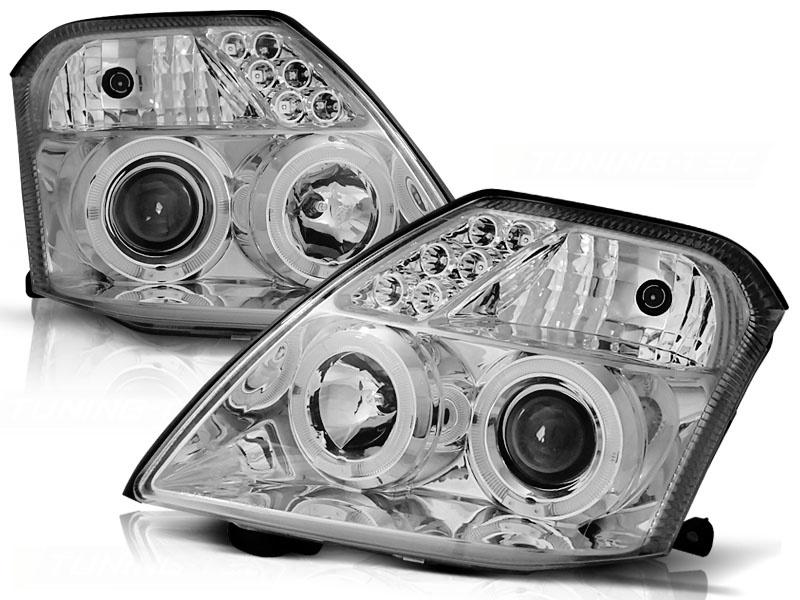 Tuning-Tec Koplampen dual halo rims CITROEN C2 09 03-10 ANGEL EYES CHROOM
